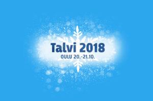 Talvi 2018 -logo taustalla