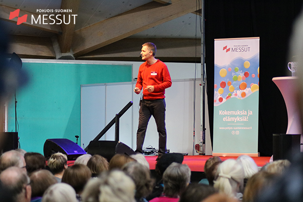 RIsto Laitila Elä & Nauti -messuilla Ouluhallissa 2018